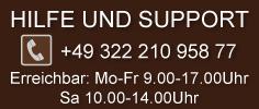 Hilfe und support: +49-322-210-958-77