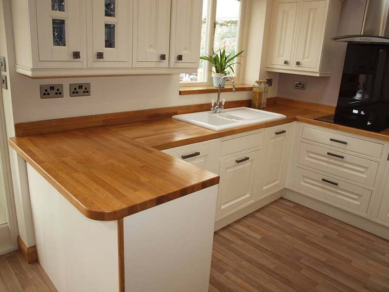 Cream Country Kitchen Grey Worktops