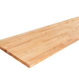 Diese Birke Arbeitsplatten können auf Maß zugeschnitten werden und auf Wunsch können sogar Ausschnitte für einen Herd, ein Spülbecken oder Wasserhähne angefertigt werden.