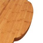Karamell-Bambus-Arbeitsplatte mit einer 40mm Radius-Ecke und unregelmäßigen Ausschnitten.