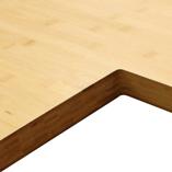 Bambus Arbeitsplatte mit Ausschnitt für eine Belfast-Spüle.
