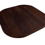 Eine Miniatur-Kücheninsel, hergestellt aus Wenge mit durchgehenden Lamellen, mit vier Radikus-Ecken - unser luxuriöstes Holz.