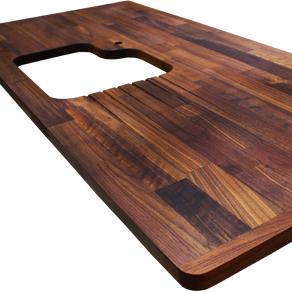 arbeitsplatten galerie arbeitsplatten mit endst ck worktop. Black Bedroom Furniture Sets. Home Design Ideas