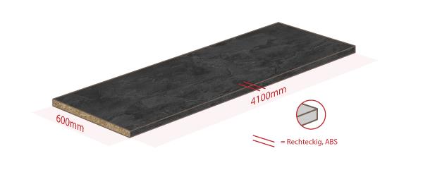 Arbeitsplatte schwarzer schiefer 4100mm x 600mm x 38mm Arbeitsplatte schiefer dekor