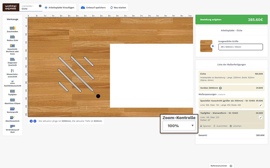 arbeitsplatten konfigurator. Black Bedroom Furniture Sets. Home Design Ideas