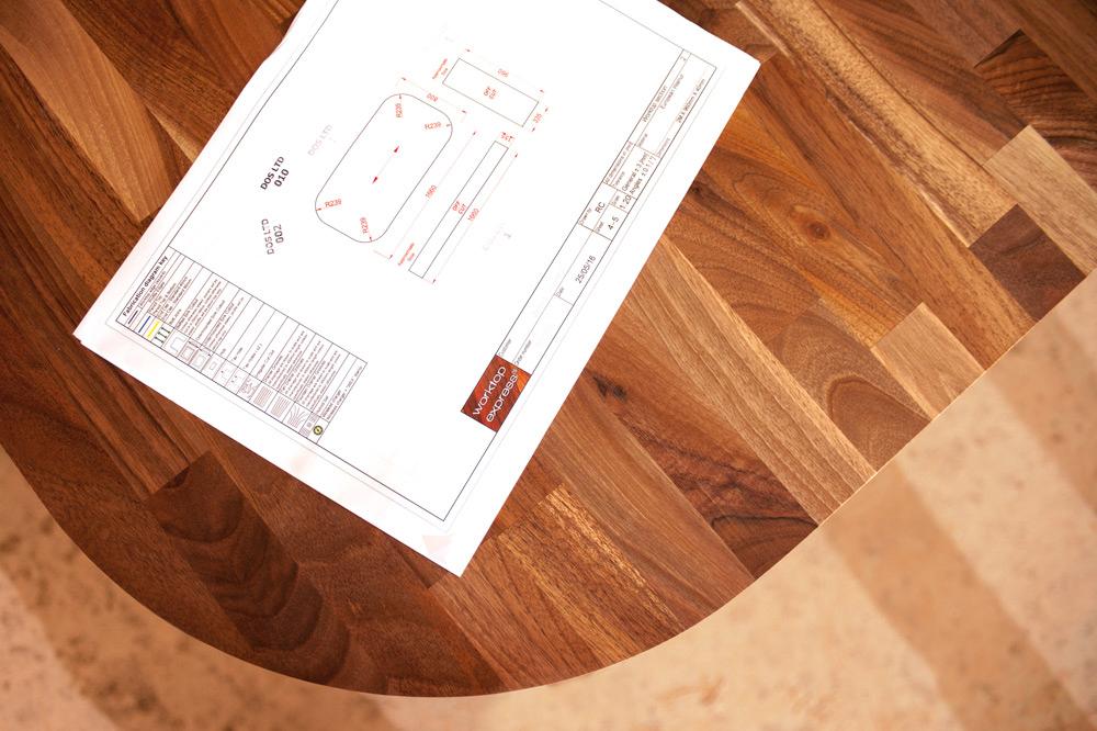 Küchenarbeitsplatten nach maß  Fabrikationsservice: Arbeitsplatten nach Maß - Worktop Express DE