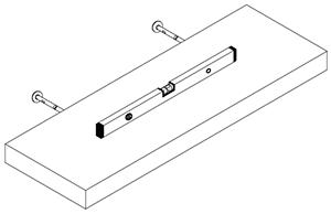 Massivholz Regale Befestigungsanleitung - Steps 8 and 9